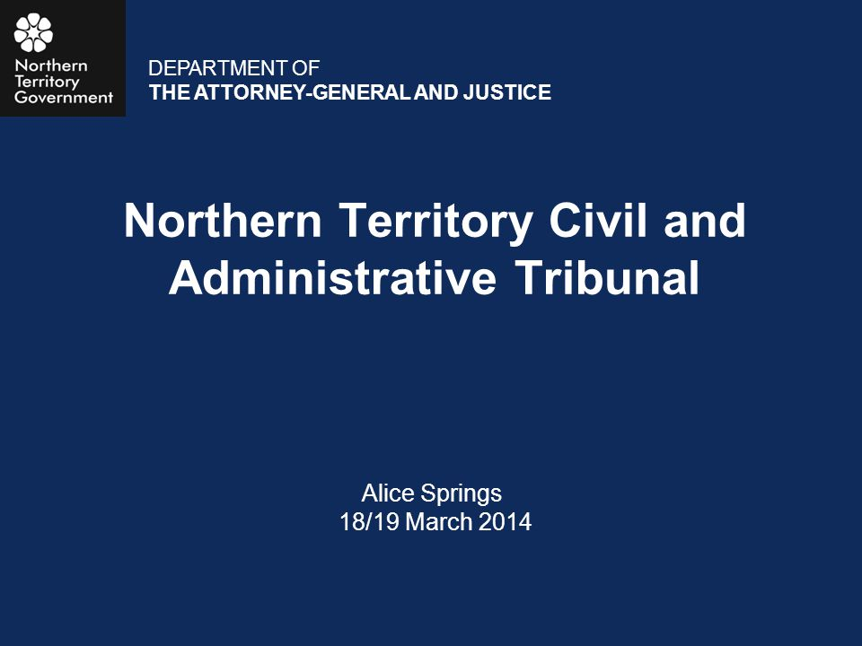 Northern Territory Civil and Administrative Tribunal