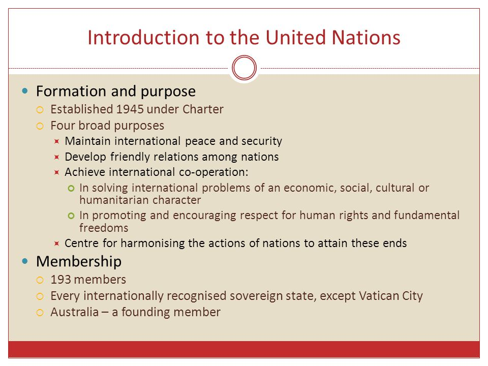 Introduction to the United Nations