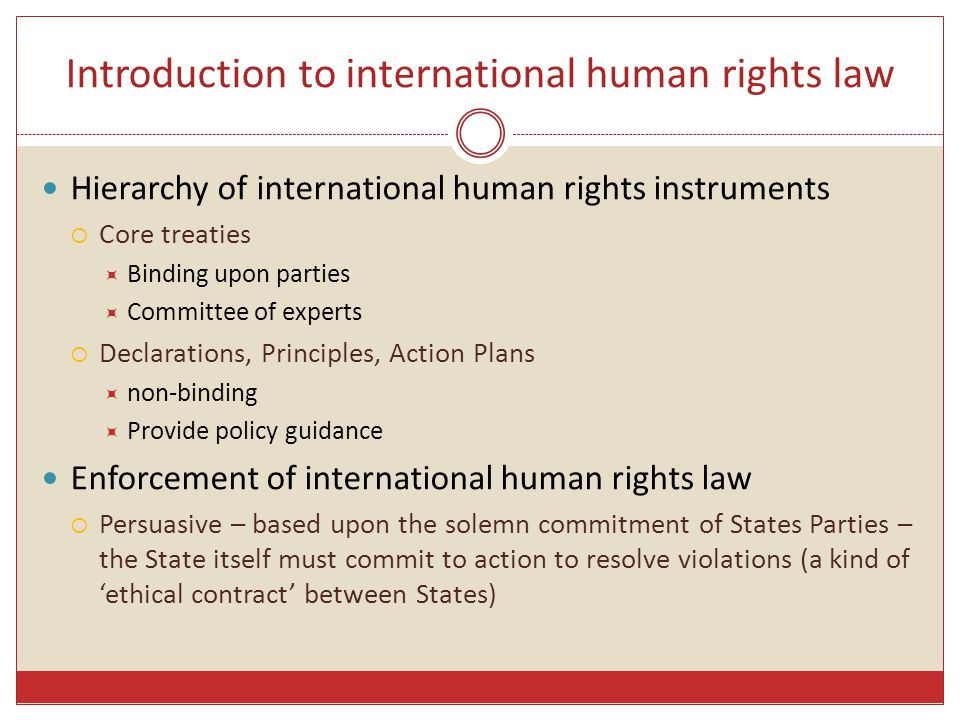 Introduction to international human rights law