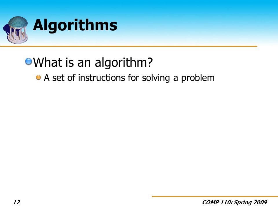 Algorithms What is an algorithm