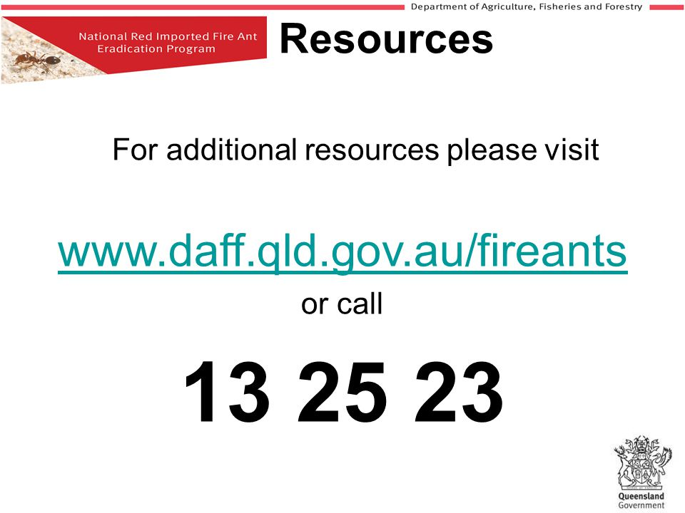 For additional resources please visit