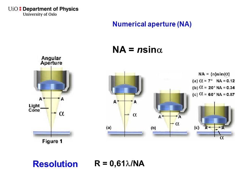 Numerical aperture (NA)
