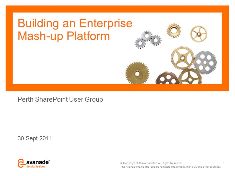 Building an Enterprise Mash-up Platform