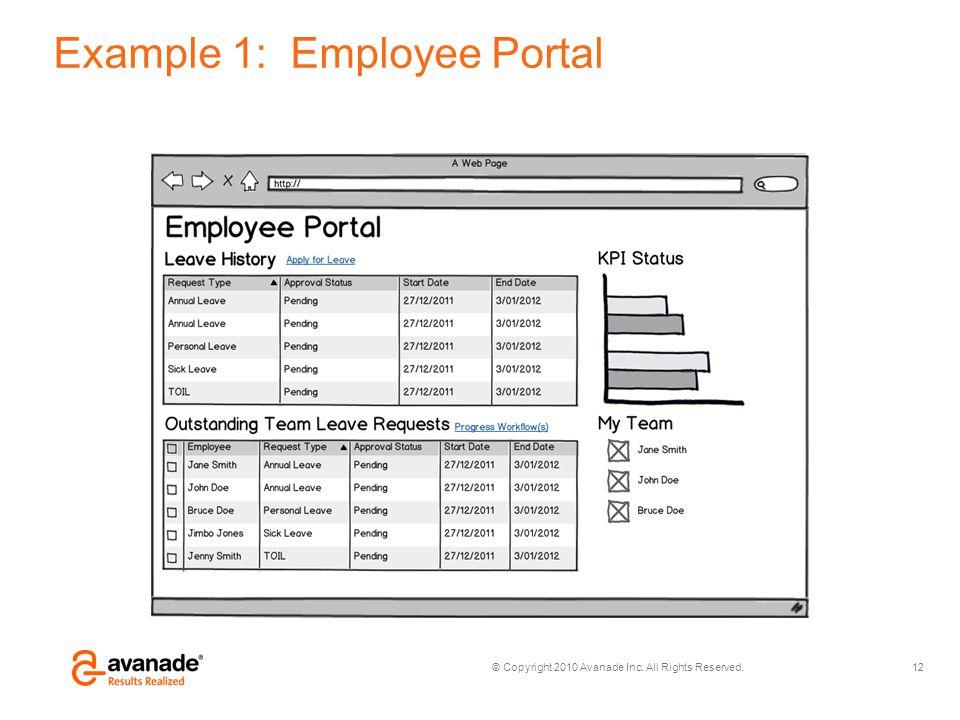 Example 1: Employee Portal