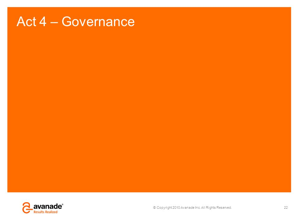 Act 4 – Governance