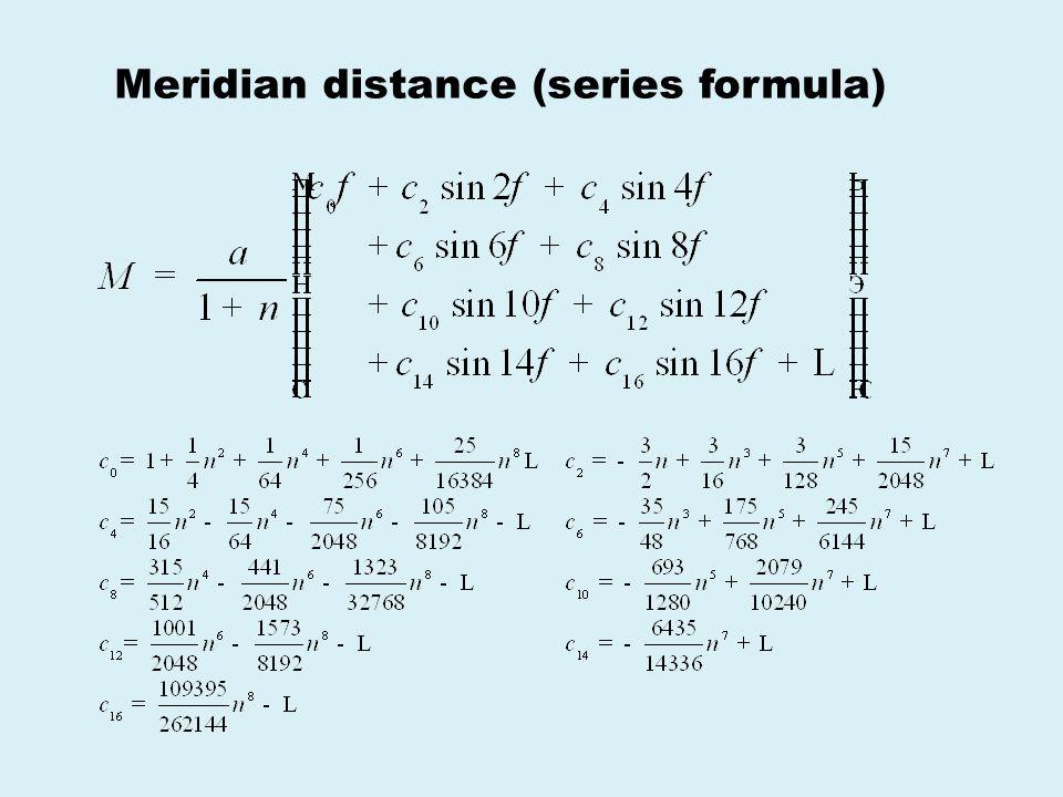 Meridian distance (series formula)