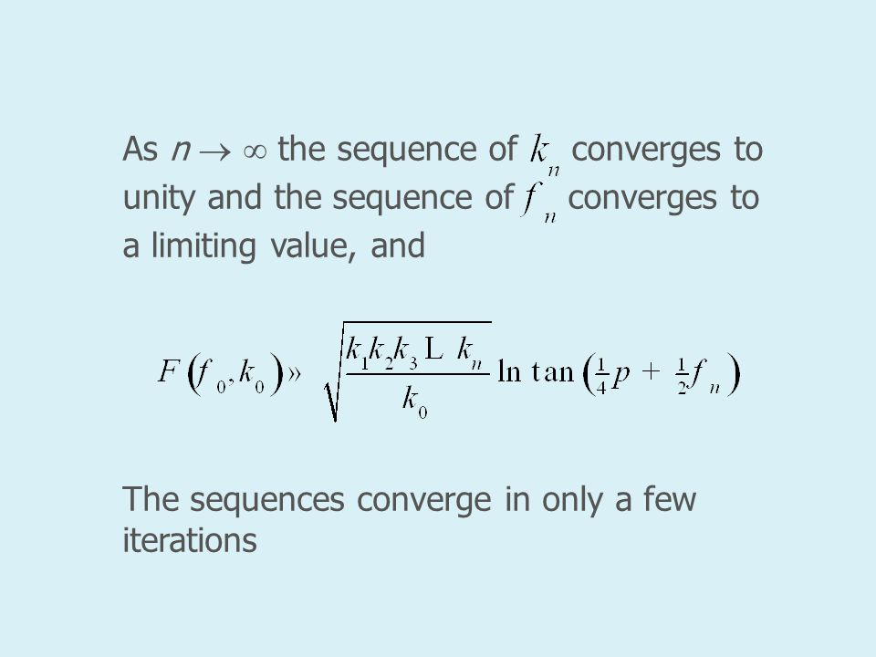 As n   the sequence of converges to