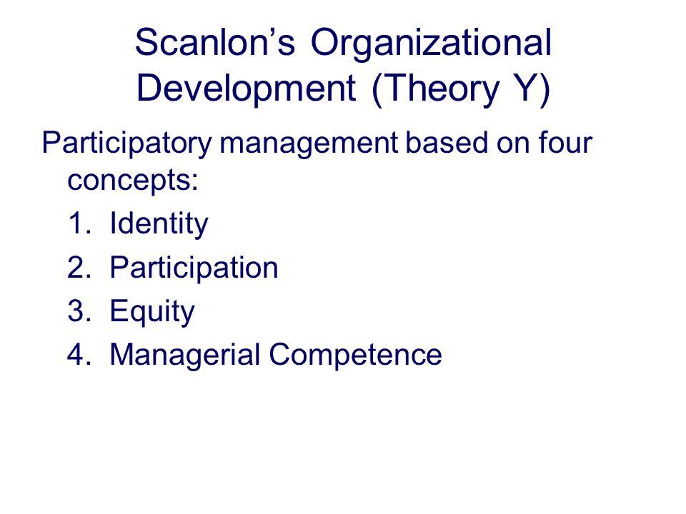 Scanlon's Organizational Development (Theory Y)
