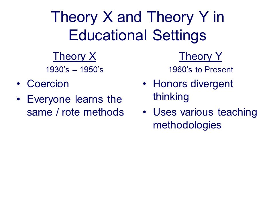 Theory X and Theory Y in Educational Settings