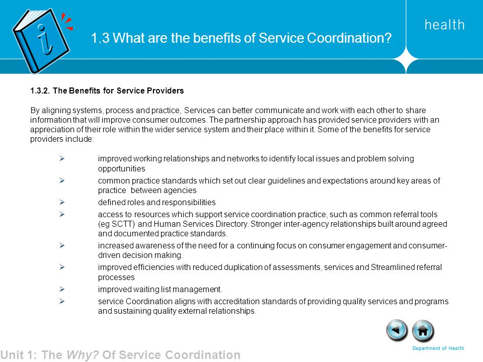 Unit 1: The Why Of Service Coordination
