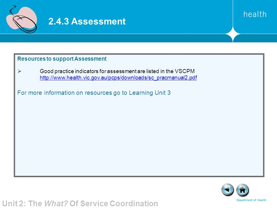2.4.3 Assessment Unit 2: The What Of Service Coordination