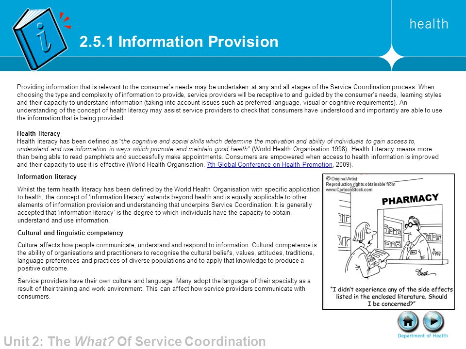 2.5.1 Information Provision