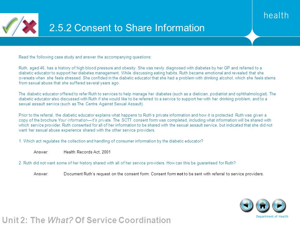 2.5.2 Consent to Share Information