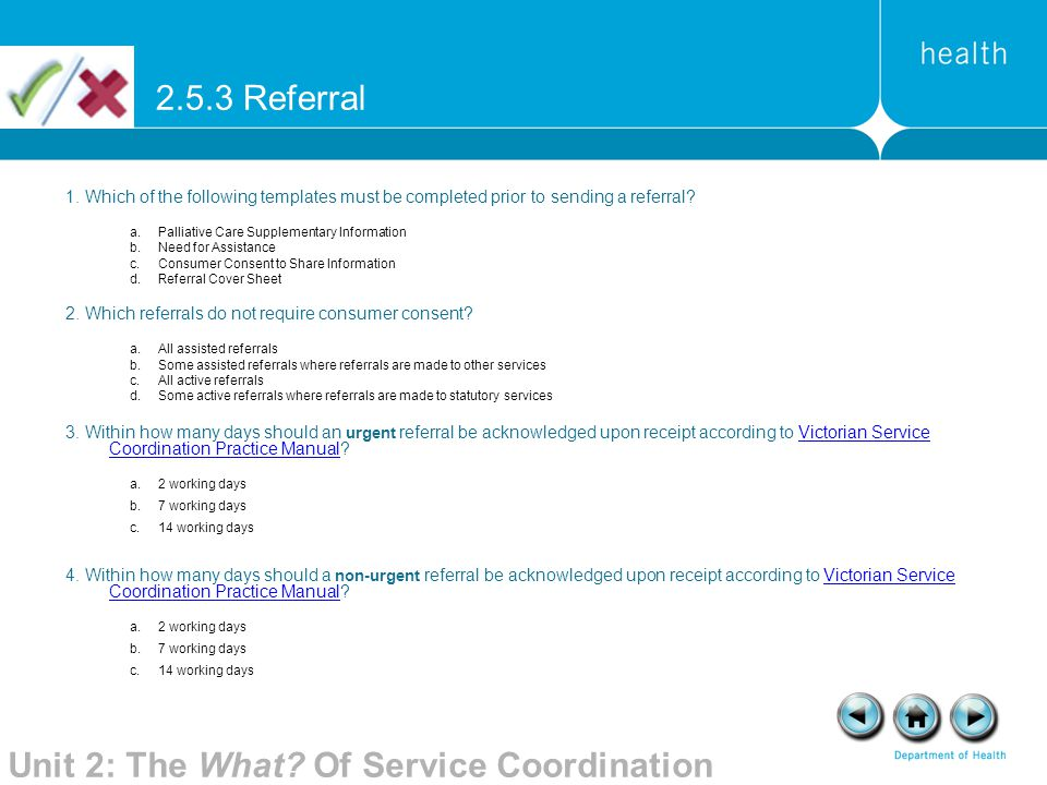 Unit 2: The What Of Service Coordination