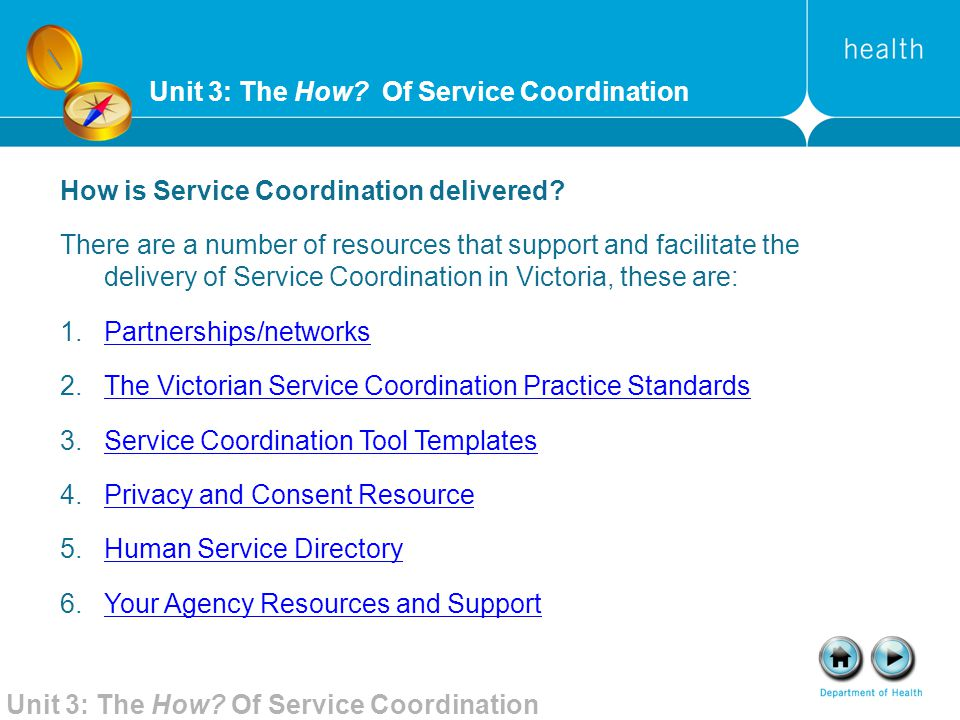 Unit 3: The How Of Service Coordination