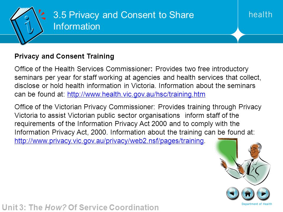 3.5 Privacy and Consent to Share Information