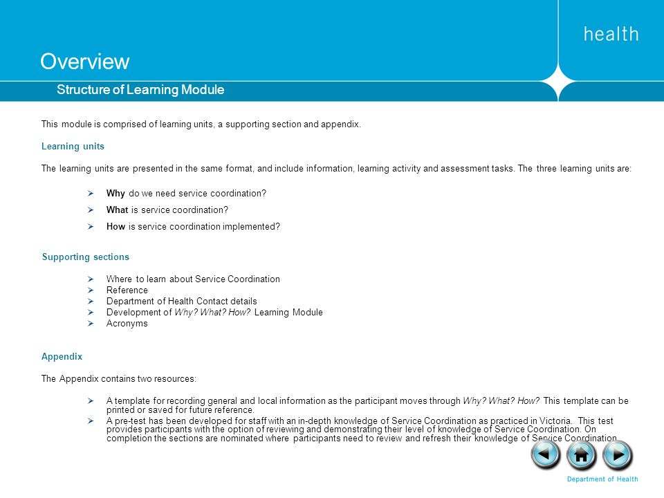 Overview Structure of Learning Module