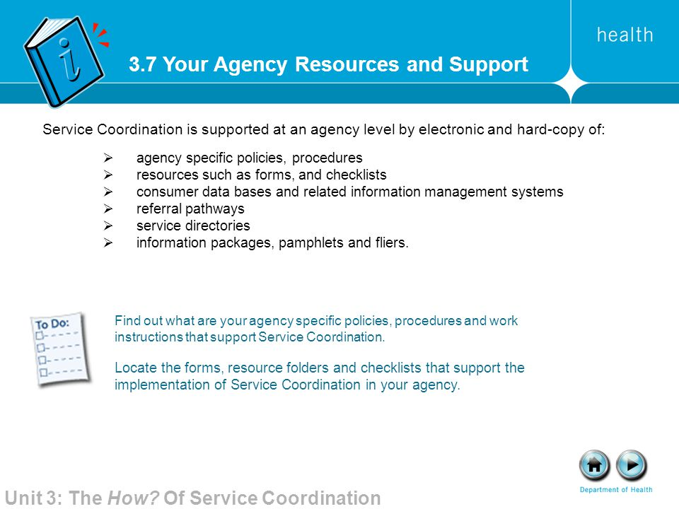 3.7 Your Agency Resources and Support