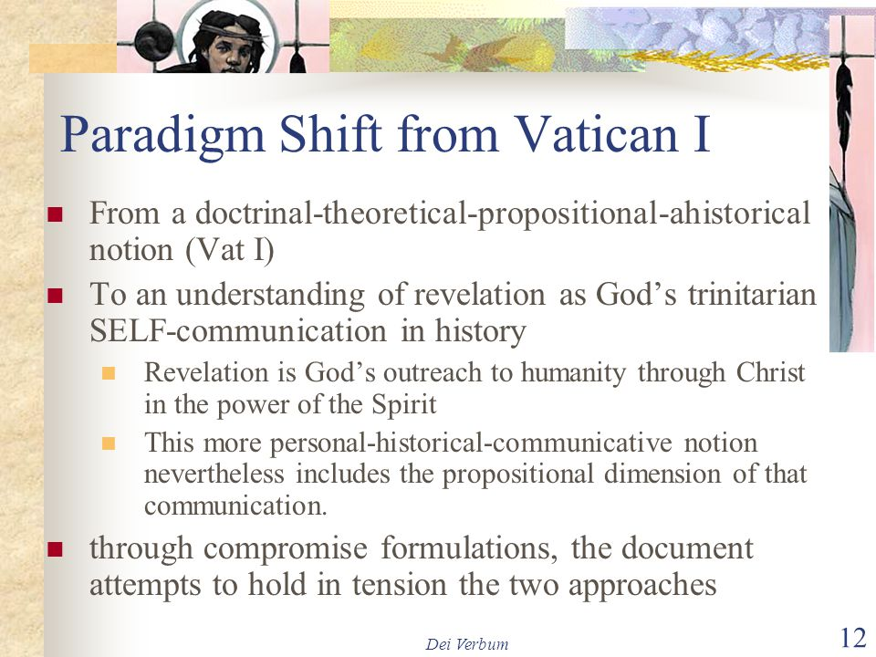 Paradigm Shift from Vatican I