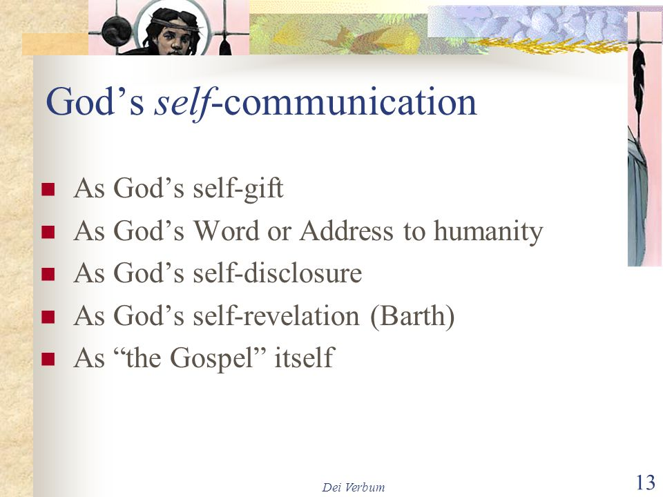 God's self-communication