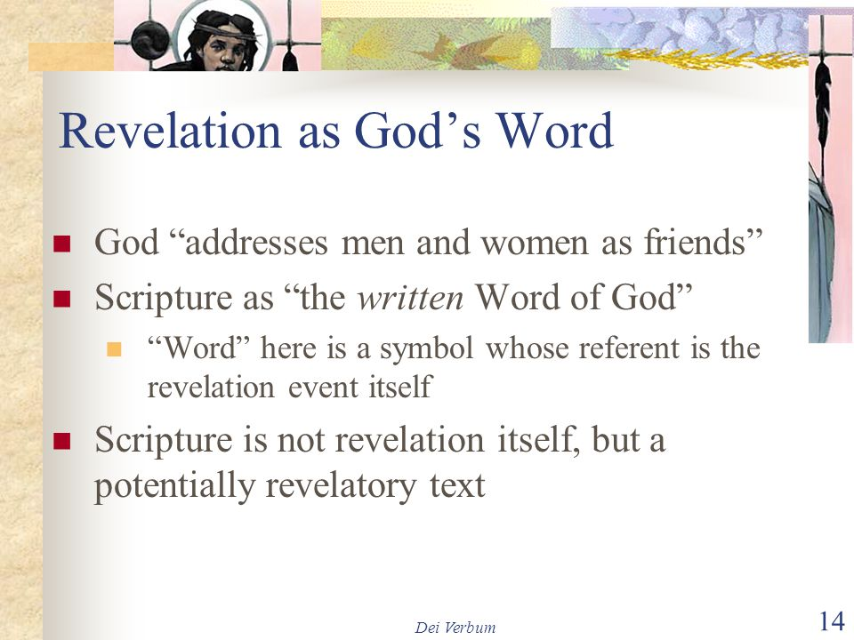 Revelation as God's Word