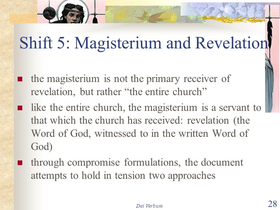 Shift 5: Magisterium and Revelation