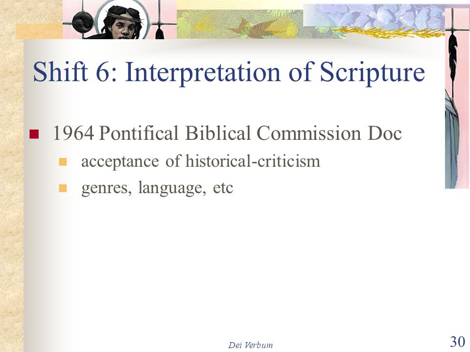 Shift 6: Interpretation of Scripture