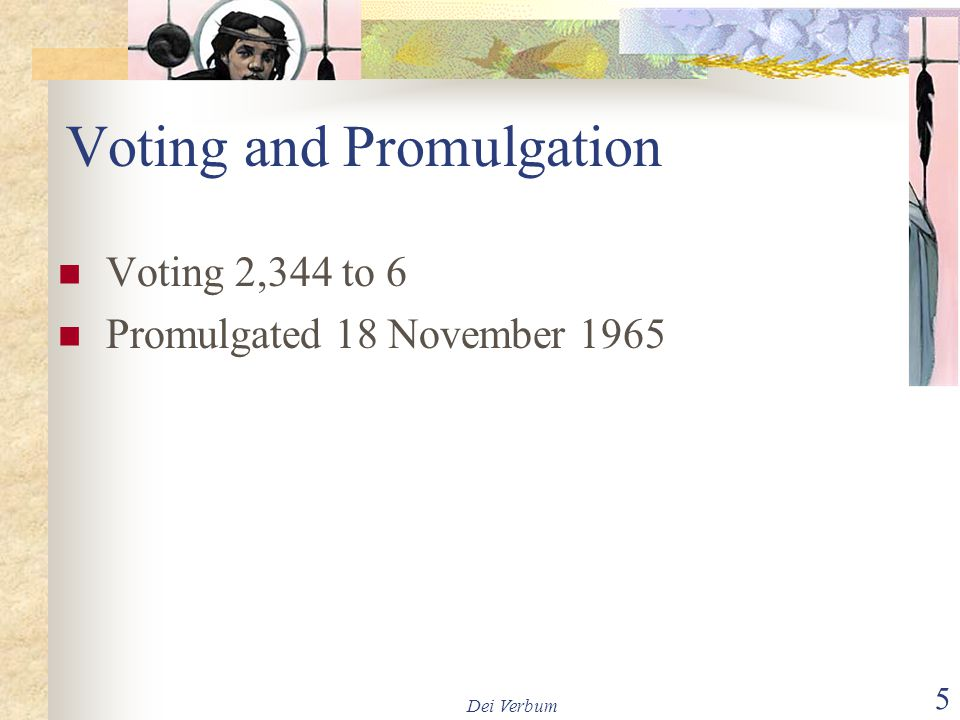 Voting and Promulgation