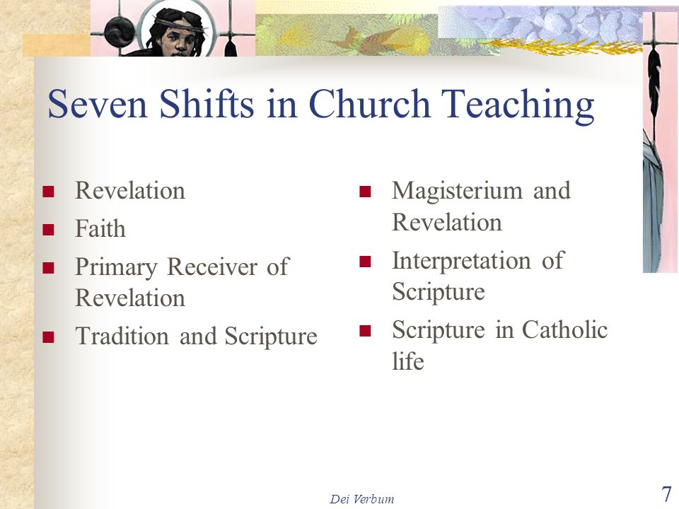 Seven Shifts in Church Teaching