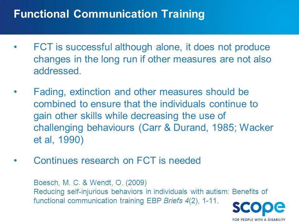 Functional Communication Training