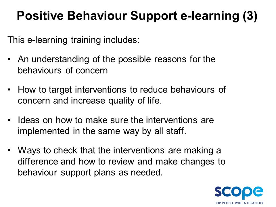 Positive Behaviour Support e-learning (3)
