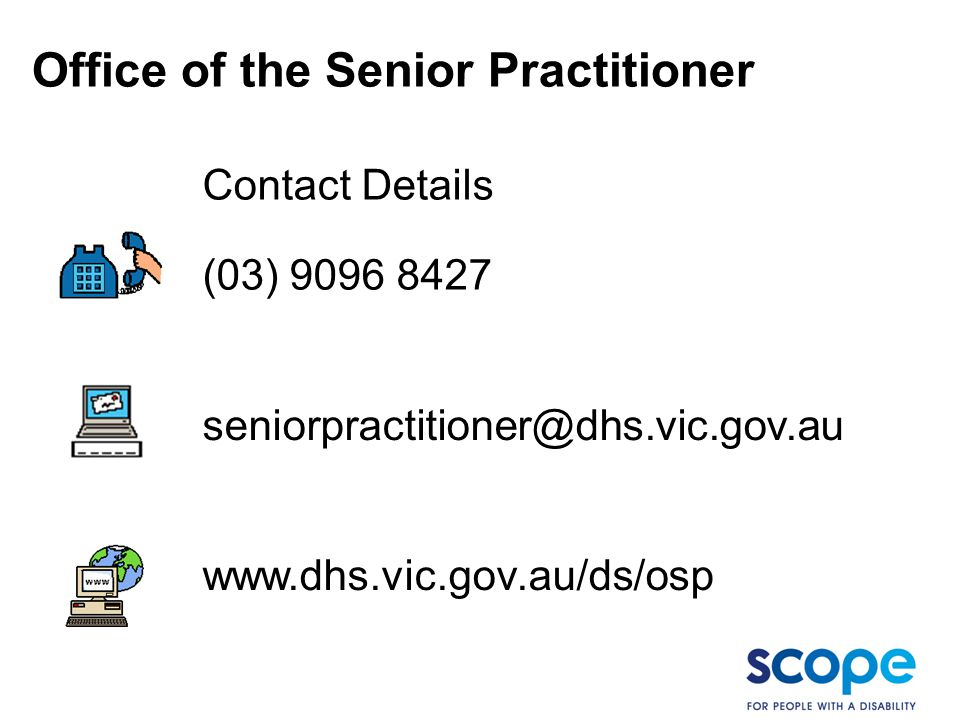 Office of the Senior Practitioner