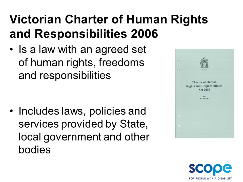 Victorian Charter of Human Rights and Responsibilities 2006