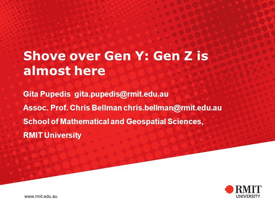 Shove over Gen Y: Gen Z is almost here