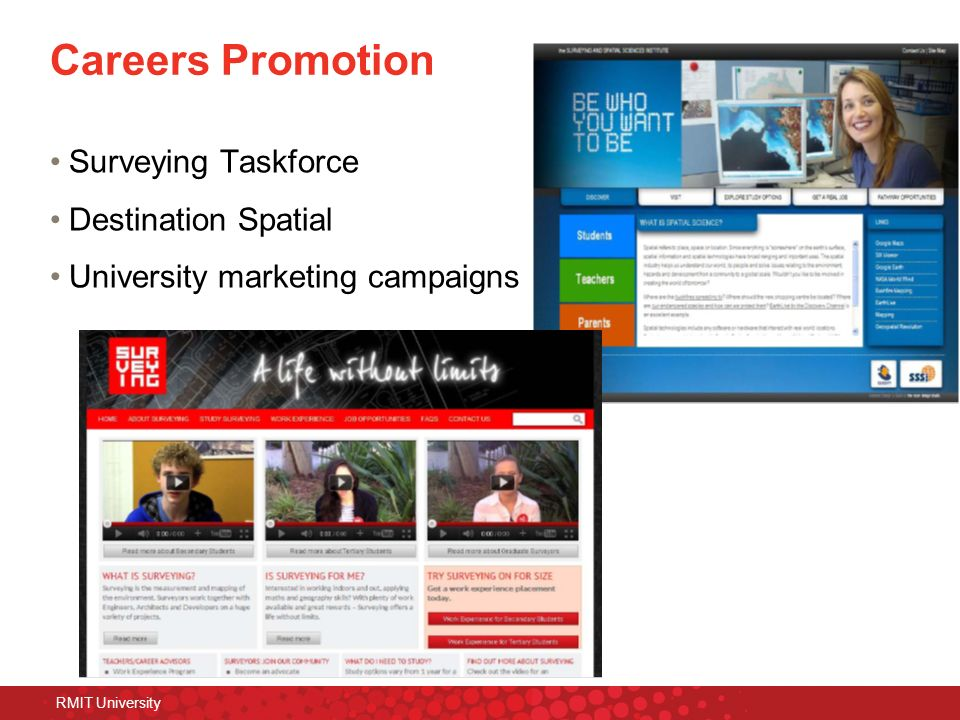 Careers Promotion Surveying Taskforce Destination Spatial