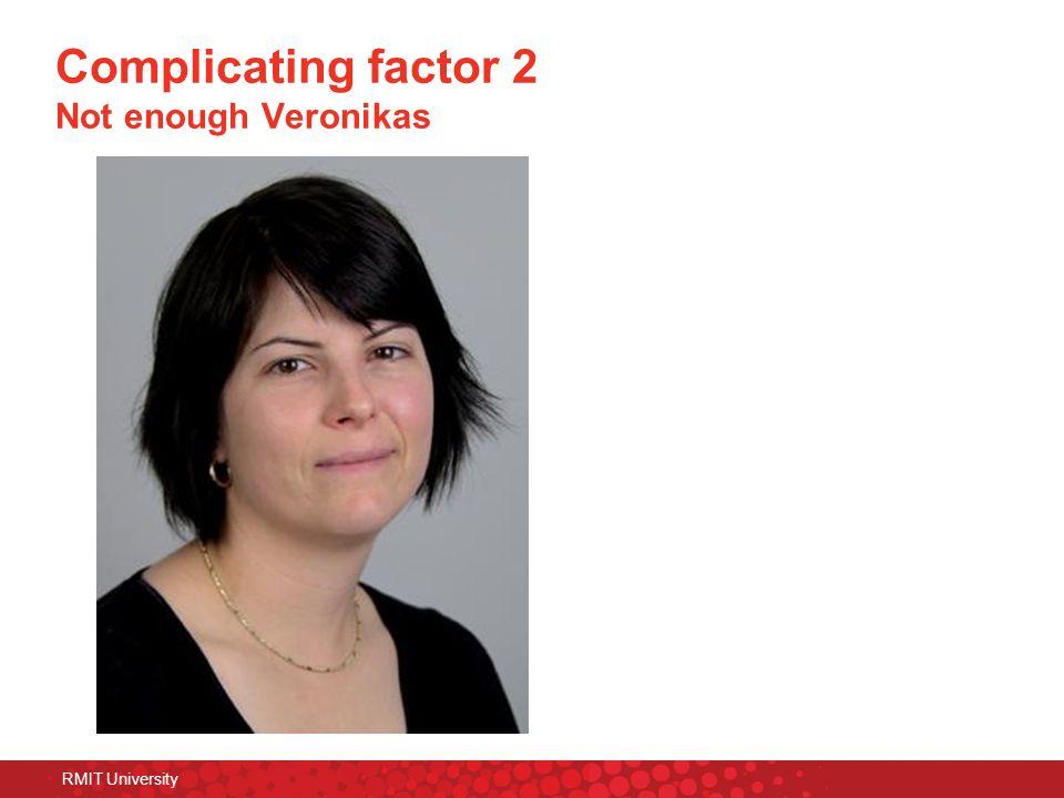 Complicating factor 2 Not enough Veronikas