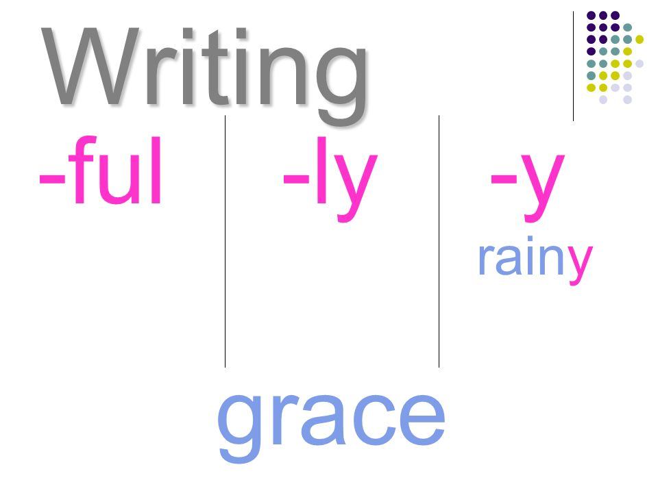 Writing -ful -ly -y rainy grace
