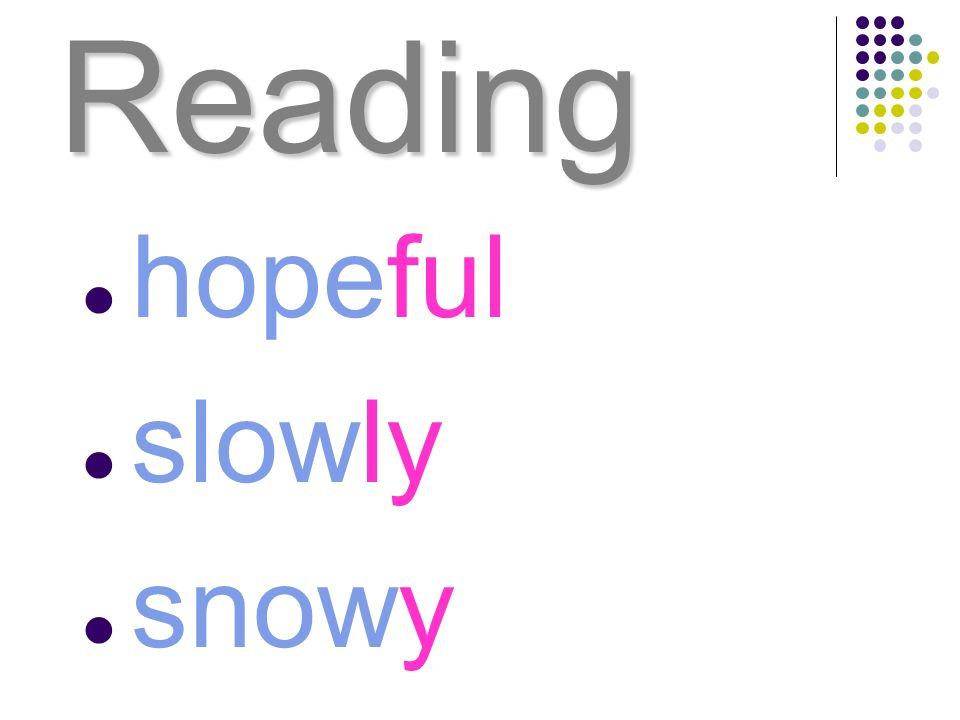 Reading hopeful slowly snowy
