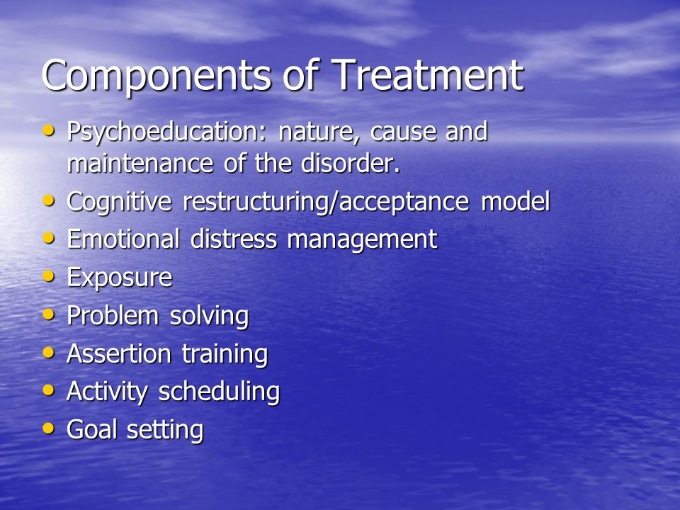 Components of Treatment