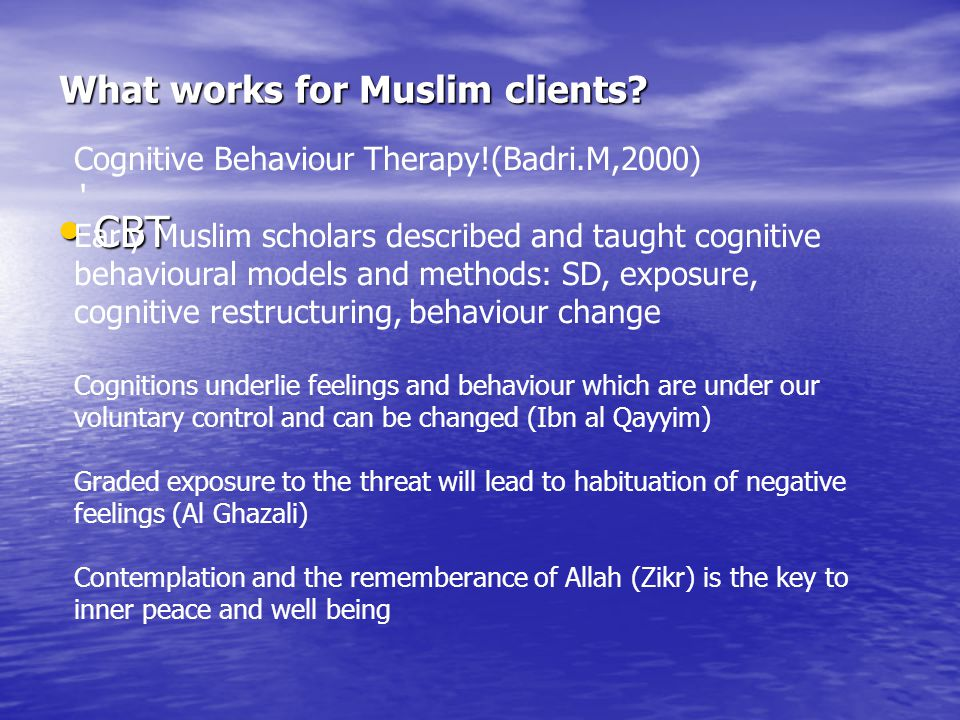 What works for Muslim clients