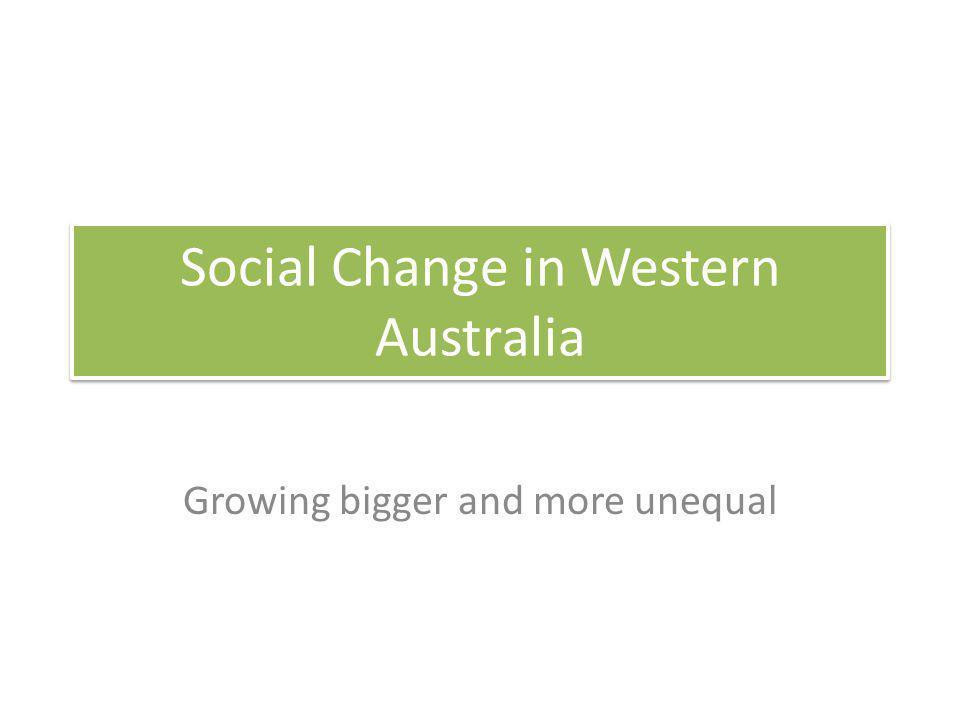 Social Change in Western Australia