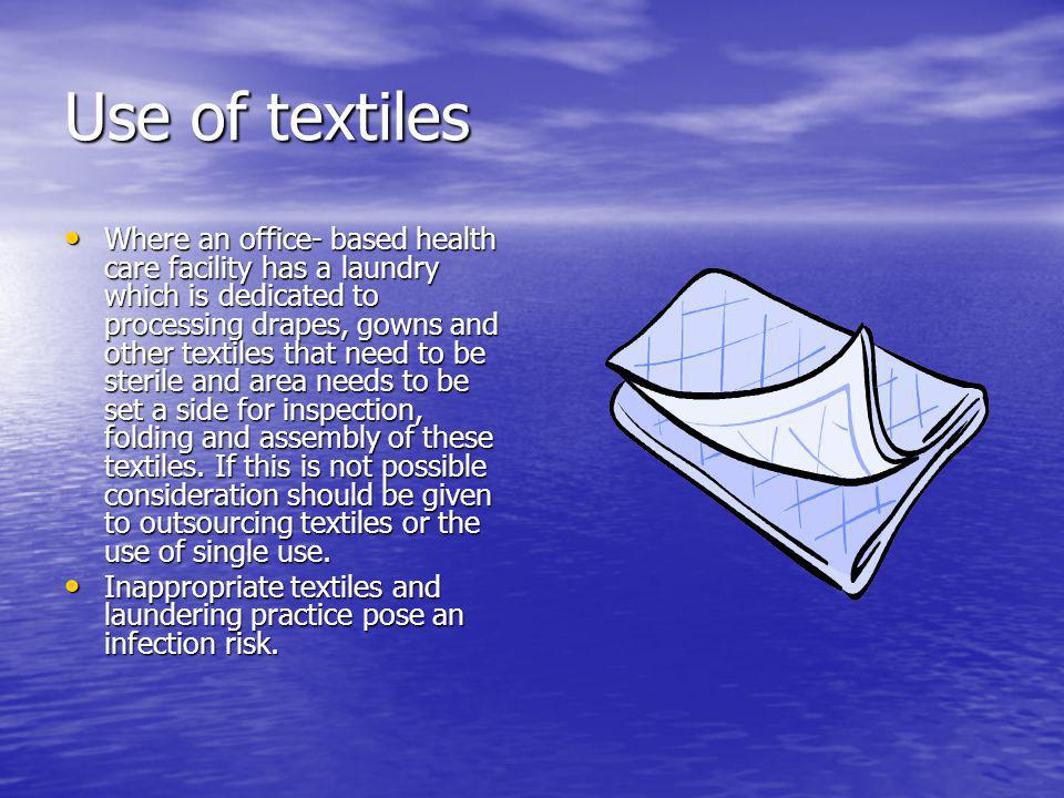 Use of textiles