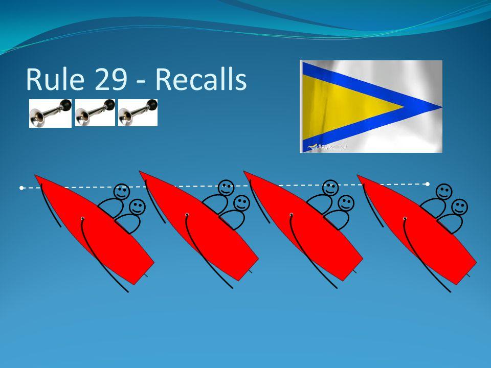 Rule 29 - Recalls