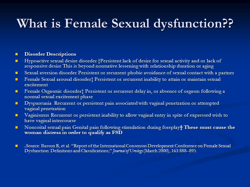 What is Female Sexual dysfunction
