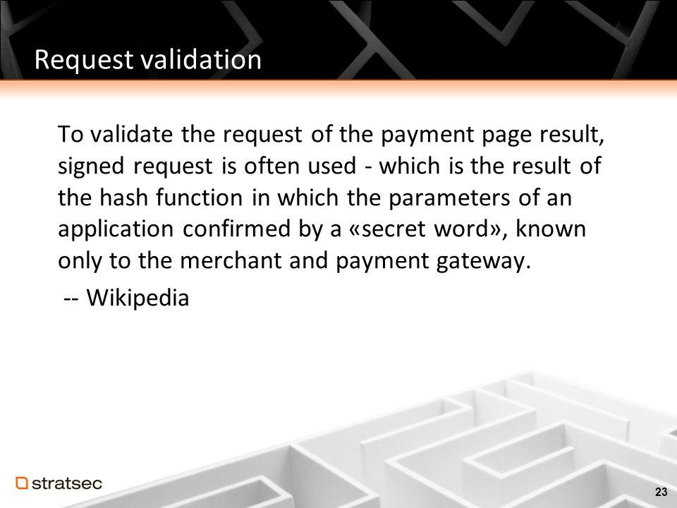 Request validation