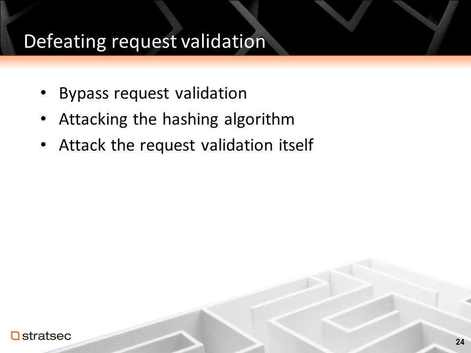Defeating request validation