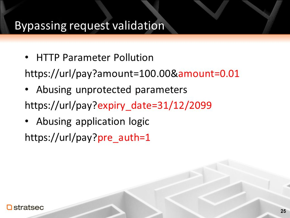 Bypassing request validation