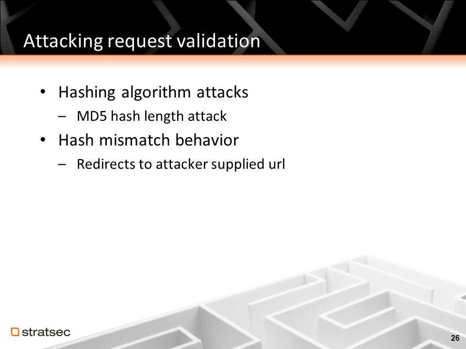 Attacking request validation