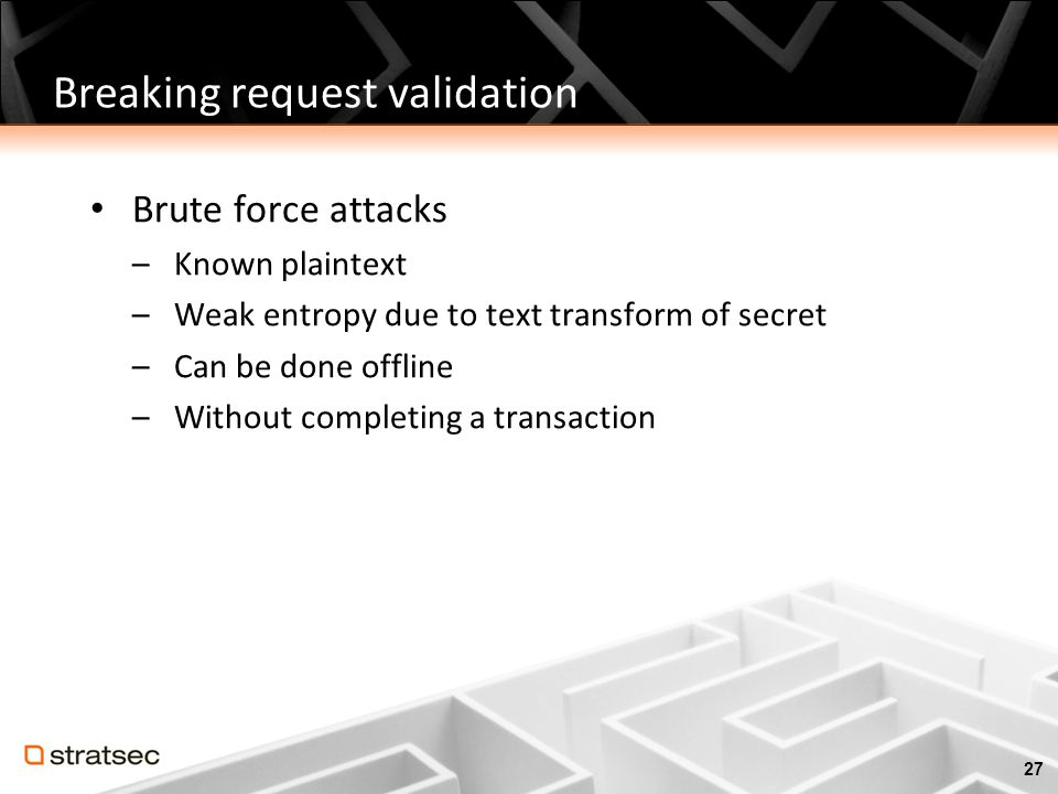 Breaking request validation