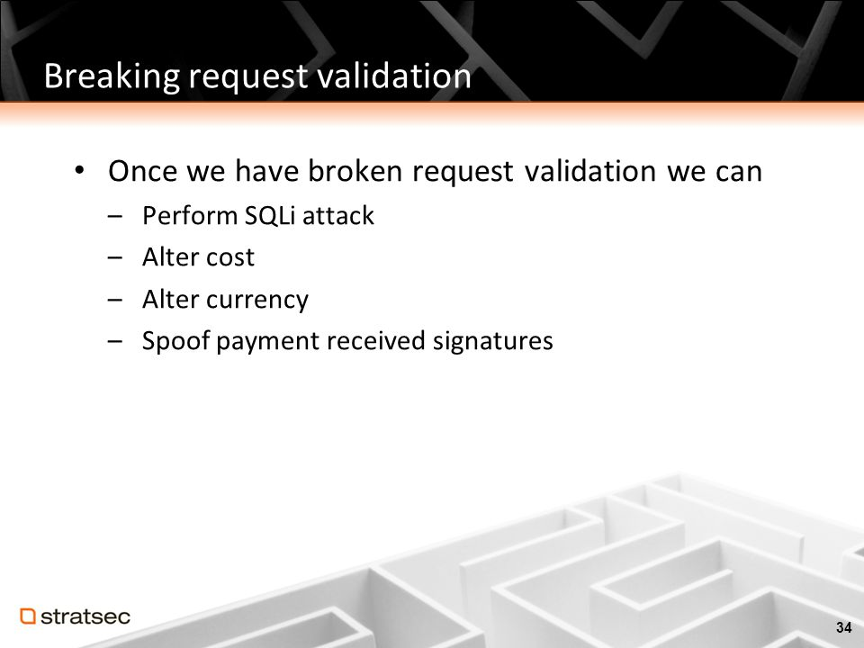 Breaking request validation